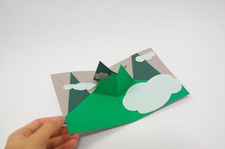 come costruire una montagna pop up paperblog
