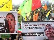 Anniversario della repubblica islamica: strade teheran scena l'odio verso obama, l'occidente riformisti. dove nuovo iran?