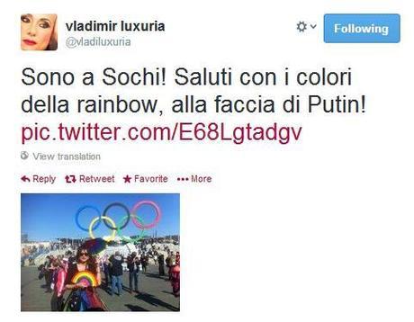 "Vladimir Luxuria arrestata a Sochi: sventolava la bandiera ""gay è ok"""
