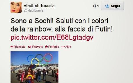 Sochi: arrestata e poi liberata Vladimir Luxuria