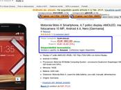 Motorola Moto disponibile Amazon euro