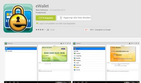 eWallet App Android su Google Play 600x356 EWallet gratis su Amazon App Shop solo per oggi applicazioni  App Shop amazon app shop