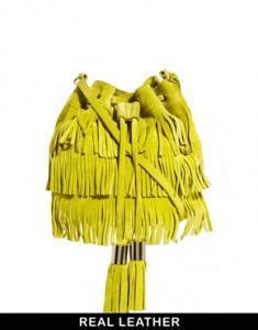 Asos borsa frange gialla
