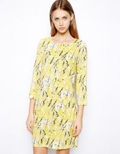 Asos vestito giallo schizzi colore