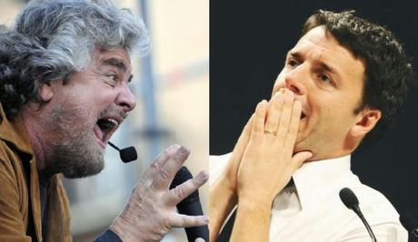 Scontro Grillo Renzi, consultazione all'amatriciana!