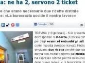 Treviso. Respinta all'ospedale esame alle braccia: servono ticket