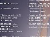 stagione concertistica, organizzata dall'Associazione Rami Musicali. Cerreto Guidi, gennaio 2011