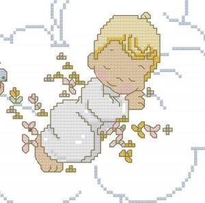 Schemi punto croce per la cameretta dei bambini