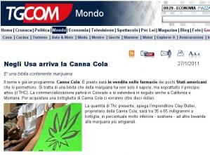 Negli Usa arriva la Canna-Cola