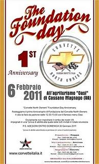 The Foundation Day, 1st Anniversary of Corvette North Owners