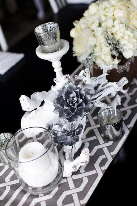Winter Table Decoration ♥ Зимна украса за масата