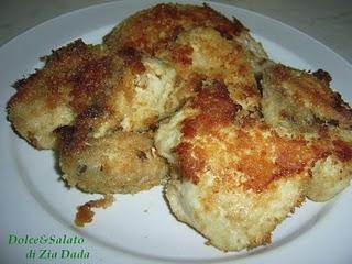 Pollo panato senza uova al forno