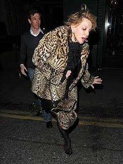 Courtney Love drinking (in London)