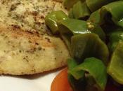 Cotoletta tacchino panatura semolino, spadellata pomodori friggitelli