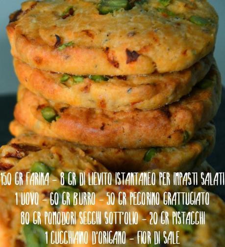 Cookies salati ai pomodori, pistacchi e pecorino