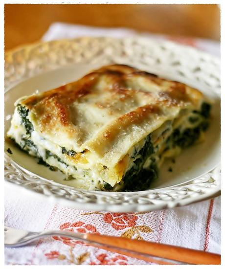 Lasagne con zucca, erbette e provola – Lasagne with ...