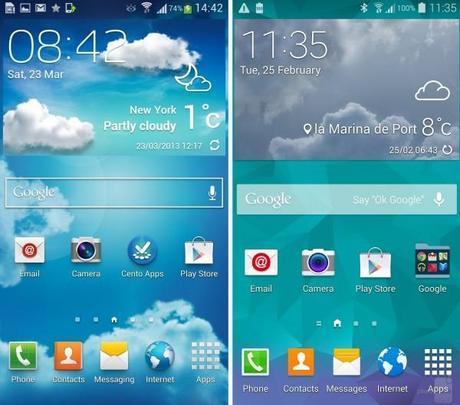touchwiz oldvnew 01 600x529 Samsung Galaxy S5 vs Samsung Galaxy S4: confronto tra le interfacce  news  samsung galaxy s5 samsung galaxy s4 samsung