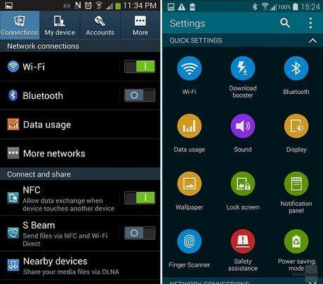 touchwiz oldvnew 04 Samsung Galaxy S5 vs Samsung Galaxy S4: confronto tra le interfacce  news  samsung galaxy s5 samsung galaxy s4 samsung