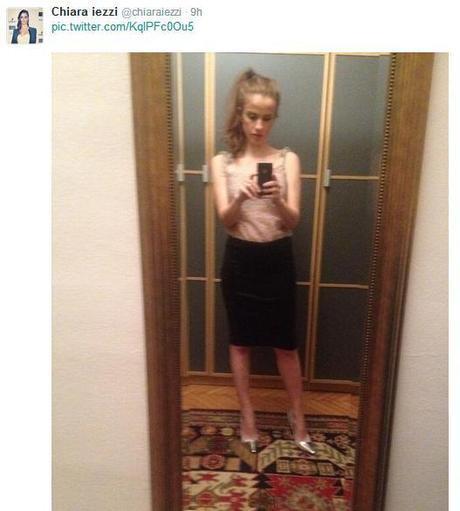 Chiara Iezzi festeggia il compleanno su Twitter: magrezza preoccupante