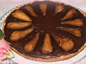 Pear, cinnamon chocolate tart