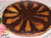 Pear, cinnamon chocolate tart