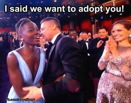 Brad Pitt Lupita Meme