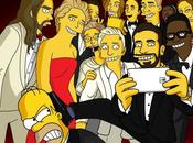 Simpsons selfie degli Oscar