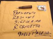 Recapitata busta proiettile governatore crocetta