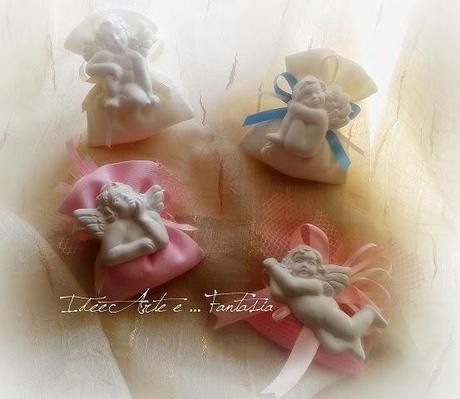 Angeli di gesso decorazioni bomboniere paperblog - Decorazioni gesso ...