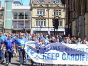Cardiff City tifosi nuovo protesta Marzo contro rebrand
