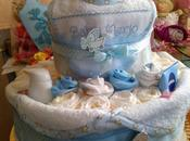 torta grande pannolini azzurra