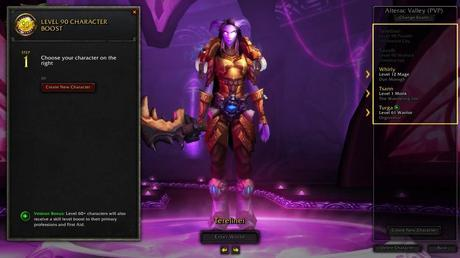 World of Warcraft - Video sul booster al livello 90