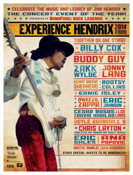 experience hendrix tour 2014