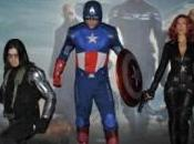 Captain America: Winter Soldier supereroi alla premiere italiana