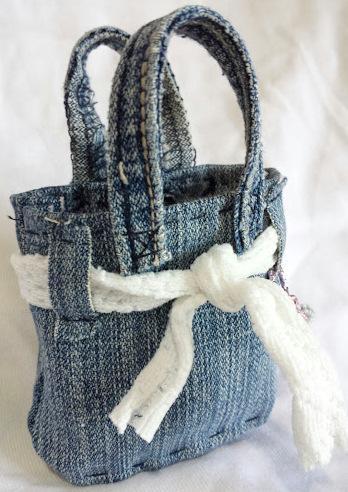 Borsa in jeans piccola piccola paperblog for Borse fai da te jeans
