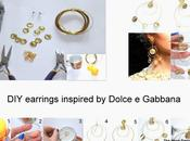 earrings inspired Dolce Gabbana!
