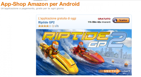 riptide gp 2 600x330 Riptide GP 2 gratis solo per oggi su Amazon App Shop applicazioni  App Shop amazon app shop