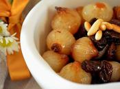 Cipolline agrodolce uvetta pinoli/ Sweet Sour Onions with Raisins Pine Nuts