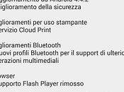 riceve Android 4.4.2 Italia
