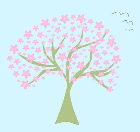 L'albero stilizzato disegnato con Inkscape