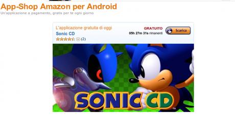 sonic cd Amazon.it App Shop per Android i migliori giochi e applicazioni per Kindle Fire e dispositivi Android 600x300 Sonic CD gratis solo per oggi su Amazon App Shop applicazioni  amazon app shop