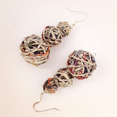 Cartalana - orecchini carta riciclata