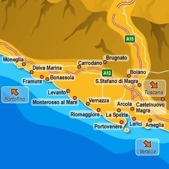 cinque terre mappa