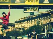 Backstage Milano Marathon 2014 jumping Giulio Tolli