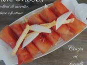 Involtini mocetta, pere fontina