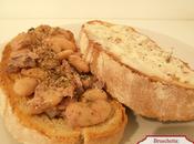 Bruschette: fagioli gorgonzola