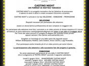 Casting Night 2014: bando attori attrici
