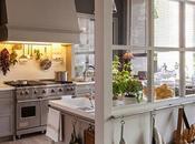 Un'idea molto chic cucina, pranzo lavanderia
