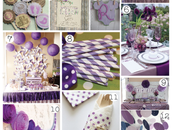 Inspiration board purple party