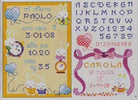 Schemi per il punto croce motivi per bambini a punto for Punto croce bambini gratis